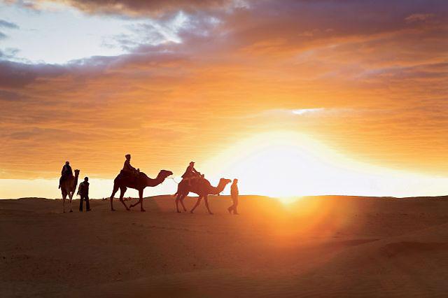 randonnée désert tunisien